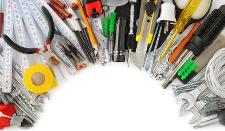 collection tools isolated on white background                                    photo