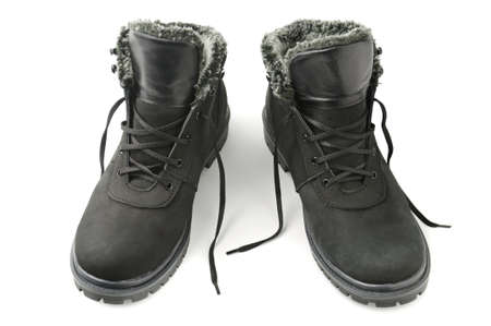 Boots for winter isolated on a white background                                     photo