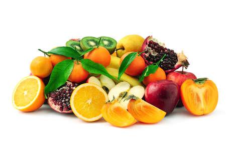 水果被隔絕在一個白色背景 版權商用圖片