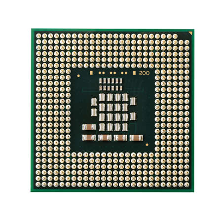 microprocessors: processor isolated on a white background