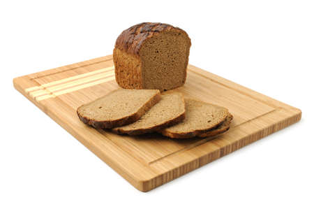 cut bread isolated on white background Stock Photo - 13059469