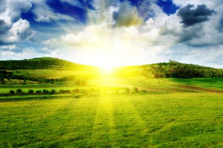 krásný západ slunce Reklamní fotografie