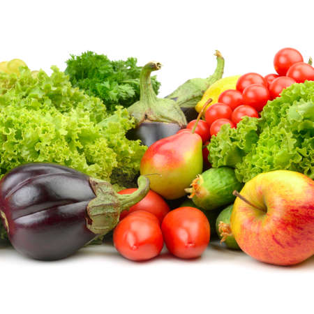 fruits and vegetables isolated on a white background Stock Photo - 15190234