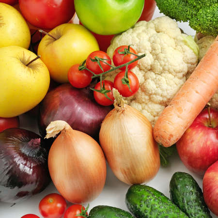fruitage: fruits and vegetables background