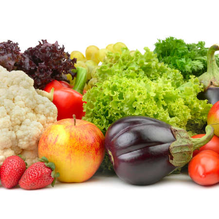 fruits and vegetables isolated on a white background Stock Photo - 15680040
