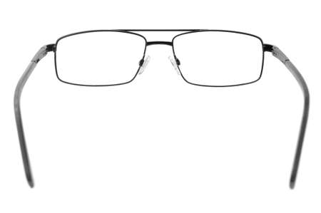 nearsighted: spectacles isolated on a white background                                     Stock Photo