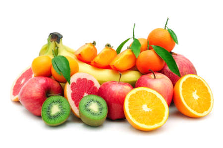 collection fruit isolated on white background                                     photo