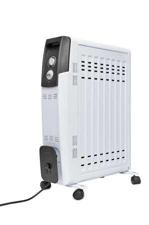 elektrisch vuur geïsoleerd op een witte achtergrond Stockfoto