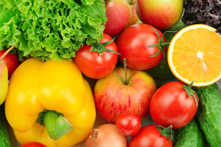 fruits and vegetables background Stock Photo - 16438202