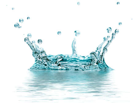 splash water isolated on a white background Stock Photo - 17284931