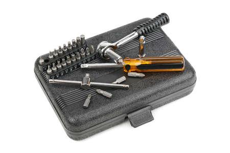 set tools isolated on a white background                                     photo