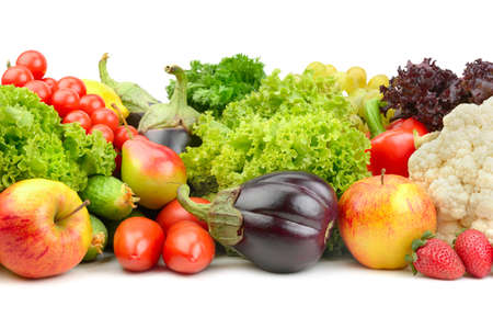 fruits and vegetables isolated on a white background Zdjęcie Seryjne - 17437706