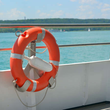 lifebuoy on a ship                                   photo