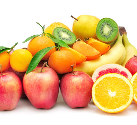 collection fruit isolated on white background Stock Photo - 17595319
