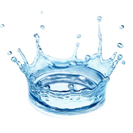 スプラッシュ水、白い背景で隔離