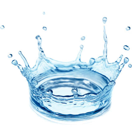 crowns: splash water isolated on a white background