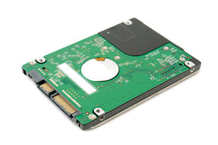 hard disk drive: hard disk isolated on a white background                                     Stock Photo