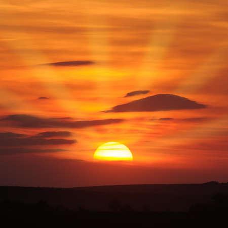 beautiful sunset Stock Photo - 17816576
