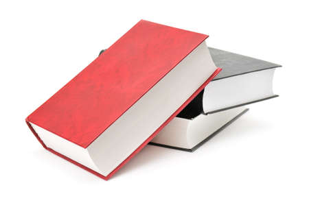 stacked books: book isolated on a white background