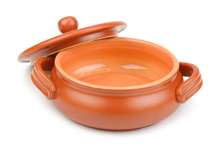 clay pot:  clay pot isolated on white background