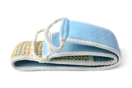 nat: washcloth isolated on white background                                     Stock Photo