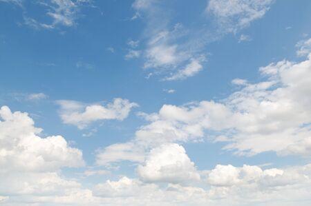 rainclouds: clouds in the blue sky                                     Stock Photo