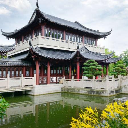 Pagoda on the lake                                    Foto de archivo