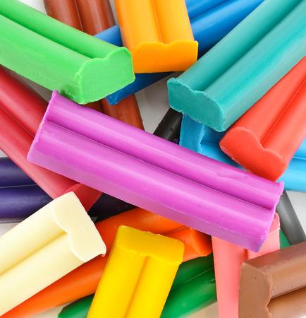 Kleurrijke plasticine achtergrond