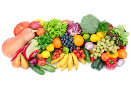 新鮮な果物や野菜の白い背景で隔離 写真素材 - 32444325