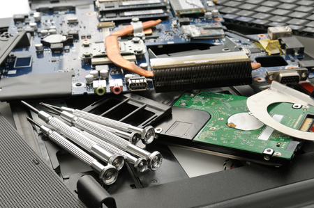 Disassemble the laptop and tools
