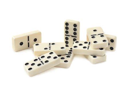 dominoes isolated on white background Foto de archivo