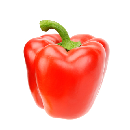 red bell pepper isolated on a white background