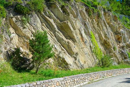 Safety net of rockfall in the mountains