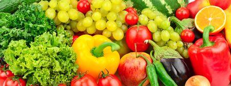 fresh fruits and vegetables background Standard-Bild