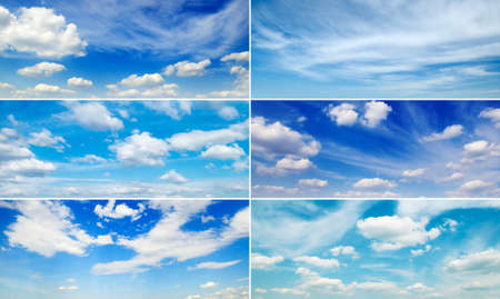Set wide clouds with blue sky and white clouds.