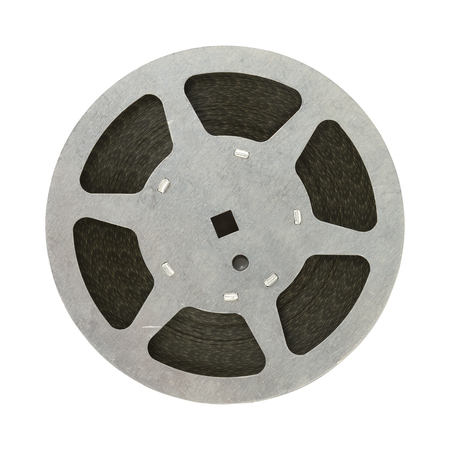 Film in reel isolated on white background.