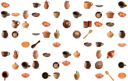 Pattern ceramic / earthenware isolated on white background.