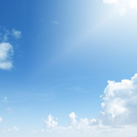 Blue sky with white clouds. Zdjęcie Seryjne