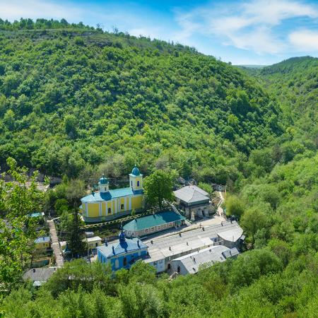 Rock Monastery in village Saharna, Republic Moldova.