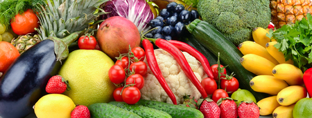 Natural delicious fruits and vegetables.