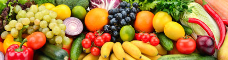 Background useful fruits and vegetables. Healthy eating