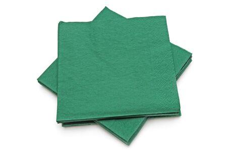 Disposable paper napkins isolated on white Archivio Fotografico - 139803354