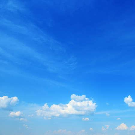 White clouds in beautiful clear blue sky