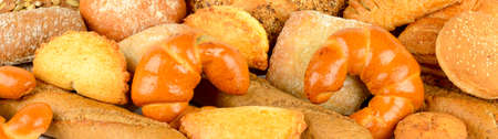 Set bread products. Food background.