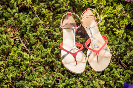 overpowering: sandals, womens elegant shoes in nature
