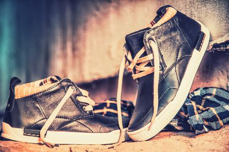 Mens running shoes photo