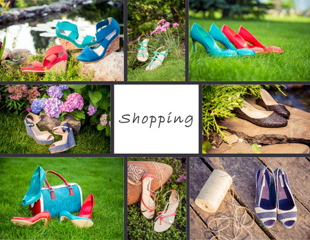 collage of women shoes photo