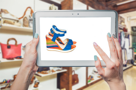booked: Girl photographs, sandals, shoes online shopping