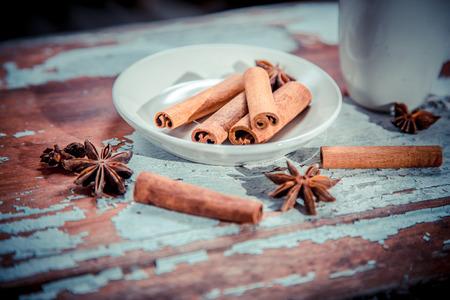 vitaly: cinnamon on a plate, Vitaly background