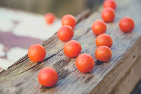 scattered cherry tomatoes
